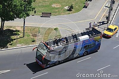 Bucharest city tour bus Editorial Photo