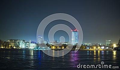 Bucharest cityscape at night