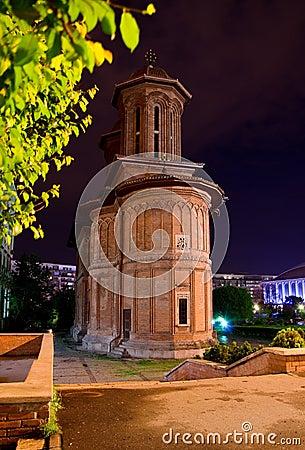 Bucharest - Cretulescu Church by night
