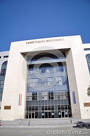 Bucharest domstolsbyggnad Redaktionell Bild