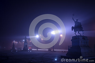 Misty Night in Bucharest