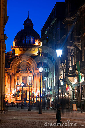 Free Bucharest - Historic Center By Night Stock Image - 22238621