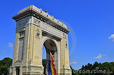 Bucharest historical landmark - the Triumph Arch