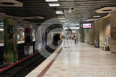 Bucharest metro Editorial Photography