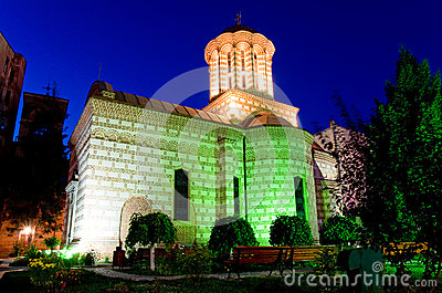 Bucharest by night - Old Court Church