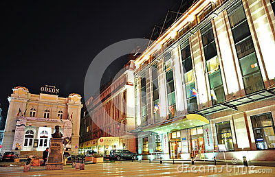 Bucharest night scene 10 Editorial Stock Image