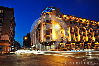 Bucharest night scene 2 Editorial Stock Photo
