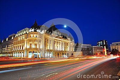 Bucharest night scene Editorial Stock Photo