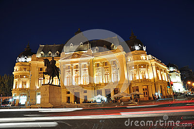 Bucharest night scene 3 Editorial Stock Image