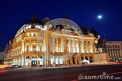 Bucharest night scene 4 Editorial Stock Image