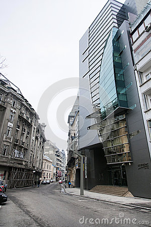 Bucharest old buildings Editorial Stock Image