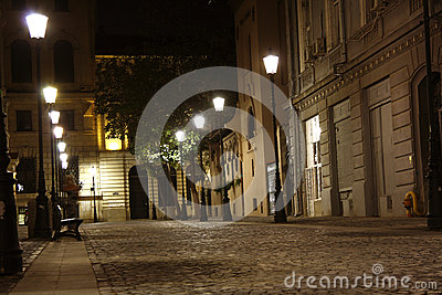 Bucharest old town at night (Romania)