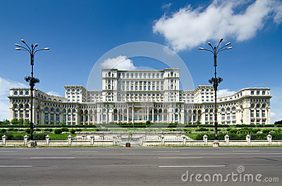 Bucharest People s House in june 2012 Editorial Photography