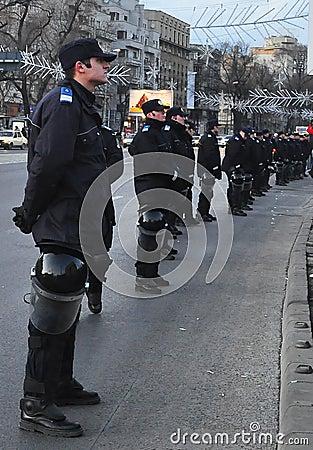 Bucharest Protest - University Square 15 Editorial Stock Image