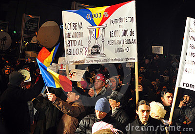 Bucharest Protests - 19 january 2012 - 10 Editorial Photo