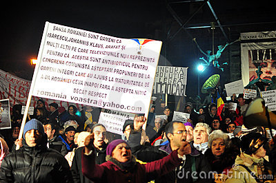 Bucharest Protests - 19 january 2012 - 11 Editorial Photography