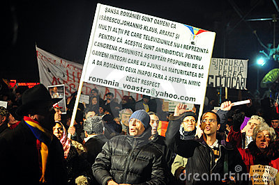 Bucharest Protests - 19 january 2012 - 12 Editorial Image