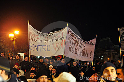 Bucharest Protests - 19 january 2012 - 13 Editorial Stock Image