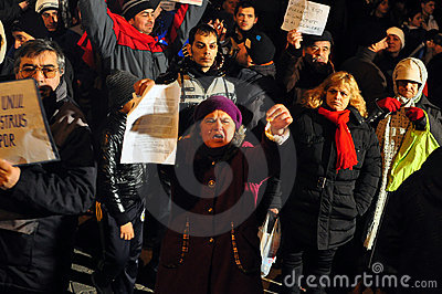Bucharest Protests - 19 january 2012 - 15 Editorial Stock Image