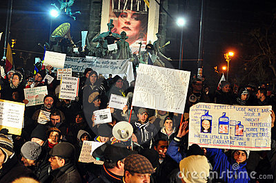 Bucharest Protests - 19 january 2012 - 16 Editorial Photography