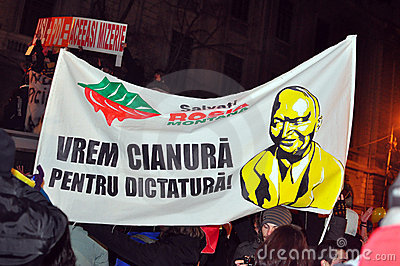 Bucharest Protests - 19 january 2012 - 22 Editorial Photo