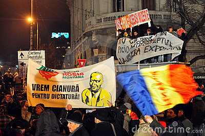 Bucharest Protests - 19 january 2012 - 25 Editorial Photography