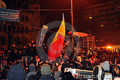 Bucharest Protests - 19 january 2012 - 3 Editorial Photography