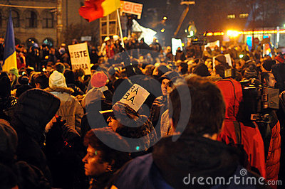 Bucharest Protests - 19 january 2012 - 6 Editorial Photography