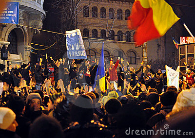 Bucharest Protests - 19 january 2012 - 7 Editorial Image