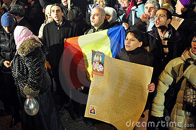 Bucharest Protests - 19 january 2012 - 9 Editorial Stock Image