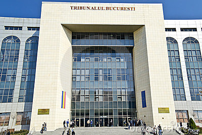 Bucharest Tribunal Editorial Photo