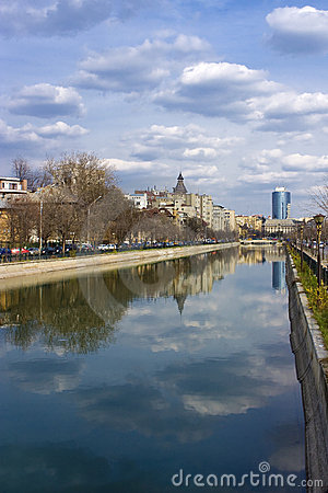 Bucharest - view over Dambovita river