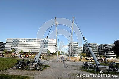 Buckelbrücke in Duisburg Editorial Photo