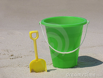 Bucket on the beach