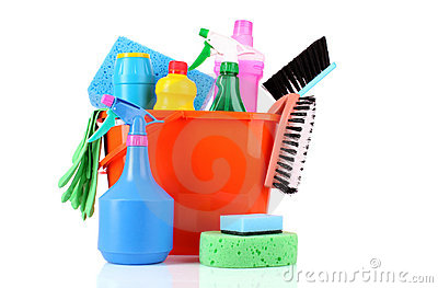 Bucket With Cleaning Supplies Stock Photos Image 18181103