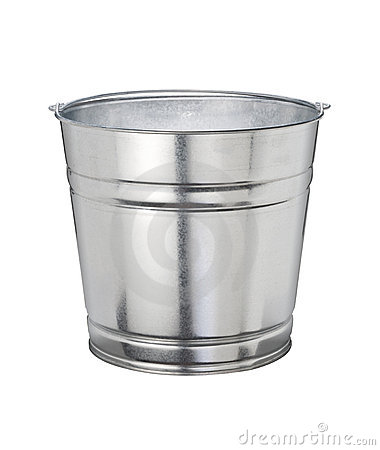 Bucket (with clipping path)