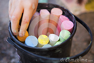 Bucket of crayons