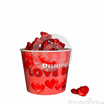 Bucket of Love Bites - Bite Sized Hearts