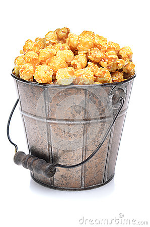 Free Bucket Of Caramel Corn Royalty Free Stock Photo - 24683335