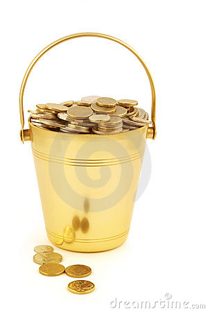Free Bucket Of Money Royalty Free Stock Image - 3139466
