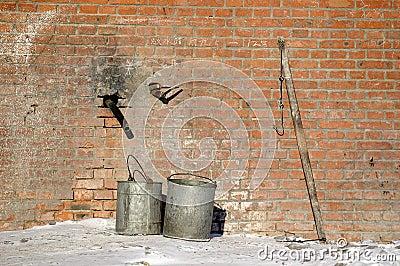 Bucket and pole