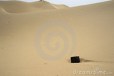 Bucket in sand mountains