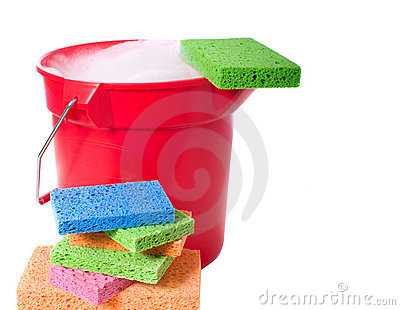 Bucket and Sponges