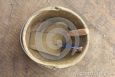 Bucket and trowel