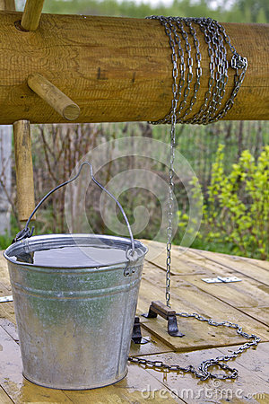 Bucket on the well