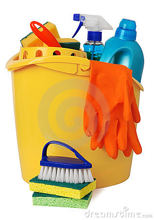Free Bucket With Cleaning Supplies Stock Photo - 11435640