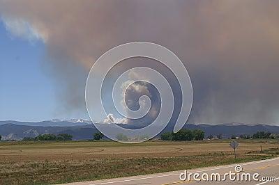 Buckhorn gulch forest fire Editorial Stock Photo