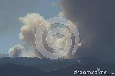 Buckhorn gulch forest fire Editorial Photo