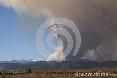 Buckhorn gulch forest fire Editorial Stock Photo