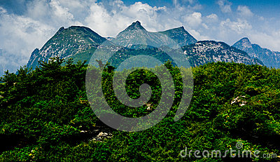 The Buckhorn Ridge of Qinling Mountain